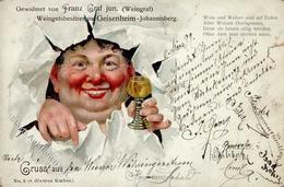 Wein Geisenheim (6222) Weingutbesitzer Franz Graf II (kleiner Einriss, Stauchung) Vigne - Ausstellungen