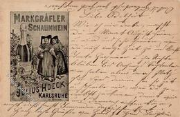 Wein Karlsruhe (7500) Markgräfler Schaumwein Julius Hoeck 1906 I-II Vigne - Ausstellungen