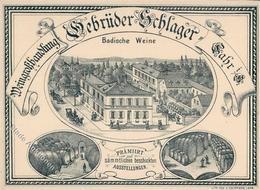Wein Lahr (7630) Weinhandlung Gebrüder Schlager I-II Vigne - Ausstellungen