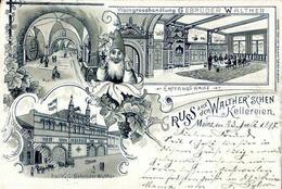 Wein Mainz (6500) Weingroßhandlung Gebr. Walther 1897 II (beschnitten) Vigne - Ausstellungen