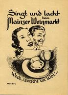 Wein Mainz (6500) Weinmarkt Kleines Liederheft I-II Vigne - Ausstellungen