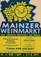 Wein Mainz (6500) Weinmarkt Werbeblatt KEINE AK I-II Vigne - Ausstellungen