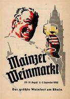 Wein Mainz (6500) Weinmarkt Werbefaltblatt KEINE AK I-II Vigne - Ausstellungen