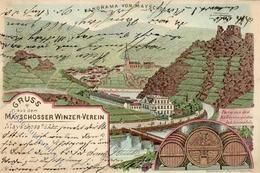 Wein Mayschoß (5481) Winzerverein Bahnpost Remagen Adenau Zug 225 10.8. 1903 I-II Vigne - Ausstellungen