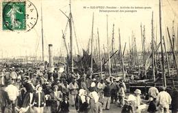60- ILE D'YEU - Arrivée Du Bateau-Poste -débarquement Des Passagers -sans éditeur - Ile D'Yeu