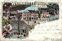 Wein St. Pauli (2000) Weinhütte Litho 1905 I-II (Marke Entfernt) Vigne - Ausstellungen