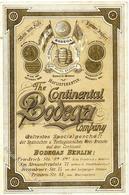 Wein The Continental Bodega Company Preisliste Klappkarte I-II Vigne - Ausstellungen