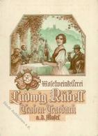 Wein Traben-Trabach (5580) Moselweinkellerei Ludwig Rübell Preisliste Mit Antwortkarte Klappkarte I-II Vigne - Ausstellungen