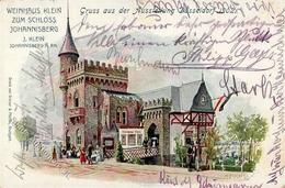 Wein Weinhaus Klein Zum Schloss Johannisberg Sign. Fuchs, K. Künstlerkarte 1902 I-II Vigne - Ausstellungen