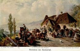 Wein Weinlese Im Neckartal Sign. Kappis, A. Künstlerkarte I-II Vigne - Ausstellungen