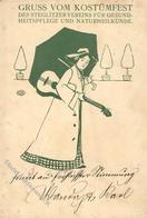 Steglitzer Werkstatt Kostümfest Künstlerkarte 1903 II (Stauchung, Fleckig) - Ausstellungen