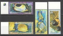 N670 SAMOA FISH & MARINE LIFE BUTTERFLYFISH #997-1000 1SET MNH - Vie Marine