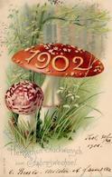 Jahreszahl 1902 Pilze Neujahr 1901 I-II Bonne Annee - Ereignisse