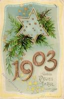 Jahreszahl 1903 Neujahr  Prägedruck I-II Bonne Annee - Ereignisse