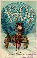 Jahreszahl 1904 Weihnachtsmann Neujahr Prägedruck 1903 I-II Pere Noel Bonne Annee - Ereignisse