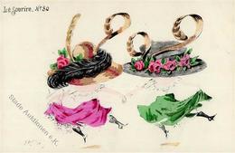 Jahreszahl 1909 Hutmode Sign. Robertz Künstlerkarte I-II - Ereignisse
