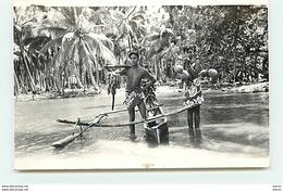 Carte-Photo De TAHITI - Deux Jeunes Hommes - Tahiti