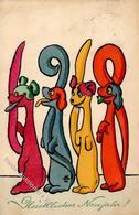 Jahreszahlen 1908 MM Vienne Nr. 427 Künstler-Karte I-II (fleckig, Stauchung) - Ereignisse