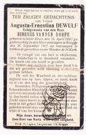 DP Augusta E. DeWulf ° Sint-Kruis 1867 † Brugge 1917 X Henricus Vanden Dorpe - Images Religieuses