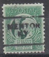 USA Precancel Vorausentwertung Preo, Locals Kentucky, Mentor 701 - Vereinigte Staaten