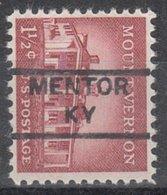 USA Precancel Vorausentwertung Preo, Locals Kentucky, Mentor 852 - Vereinigte Staaten