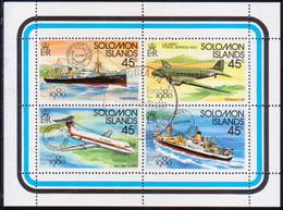 SOLOMON ISLANDS 1980 SG #417-20 Compl.set In A Sheetlet Used London 1980 - Solomon Islands (1978-...)