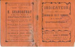 CHATEAURENAULT, 37 - Indicateur Des Chemins De Fer Et Tramways - Europe