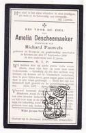 DP Amelia DeScheemaeker ° Rumbeke 1851 † Roeselare 1908 X Richard Pauwels - Images Religieuses