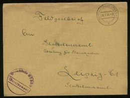 WW II DR Polen Feldpost Briefumschlag : Gebraucht Warthestadt Posen - Leipzig 1941 ,Bedarfserhaltung Ohne Inhalt. - Allemagne