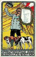 Jagdausstellung Wien (1010) Österreich Jäger Hunde Sign. Puchinger, Erwin 1910 I-II Chien - Ereignisse