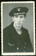 WW II Foto Postkarte: Portrait , Kriegsmarine ,Deutscher Soldat In Uniform. - Germany
