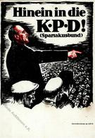 RUSSLAND - KPD-PropagandakarteNr. 1 - 1919-20 - Hinein In Die KPD - SPARTAKUSBUND I-II - Politiek