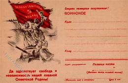 RUSSLAND - Propaganda-Feldpostbrief I-II - Politiek