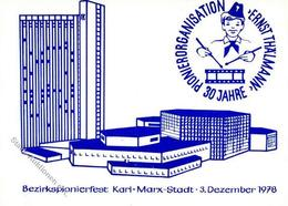 Politik Chemnitz (o-9010) Pionierorganisation Ernst Thälmann I-II (Stauchung) - Politiek