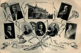 Politik Die Ersten Sieben Sozialdemokraten Im Preussischen Landtag 1908 I-II - Politiek