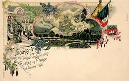 Politik Russisch Französisches Treffen Lithographie 1896 I-II - Politik