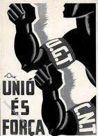Politik Spanien Einigkeit Ist Stärke Generalitat De Catalunya Künstler-Karte I-II - Politik