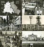 BERLIN ZONENGRENZE/SEKTORENGRENZE Und MAUER - 18 Versch. Ansichtskarten I-II - Politiek