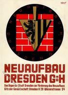 DRESDEN - AUSSTELLUNG NEUAUFBAU DRESDEN 1948 Mit S-o I - Politiek