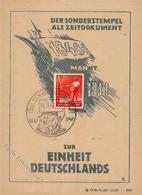 SCHWERIN,Meckl. - 100 Jahre EINHEIT DEUTSCHLANDS 1948 - S-o Schwein 1948 I Cochon - Politiek
