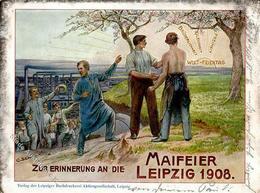 Arbeiterbewegung Leipzig (O7000) Maifeier 1908 I-II - Politiek