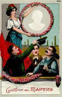 Arbeiterbewegung Maifeier  Prägedruck I-II - Politiek