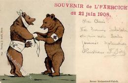 Rotes Kreuz Neuchâtel (2000) Schweiz Bären Personifiziert Samaritains 1908 I-II - Red Cross