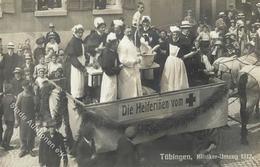 Rotes Kreuz Tübingen (7400) Kliniker Umzug Foto AK 1912 I-II - Red Cross