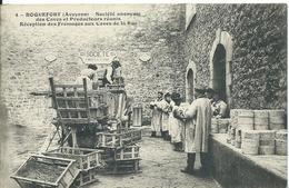 ROQUEFORT   (  AVEYRON  )  SOCIÉTÉ ANONYME DES CAVES ET PRODUCTEURS RÉUNIS. RÉCEPTION DES FROMAGES AUX CAVES DE LA RUE - Roquefort