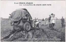 Raid PEKIN-PARIS Sur Automobiles De DION-BOUTON. 10. Ornières De Boue à L'entrée D'un Village Sibérien - Cartes Postales