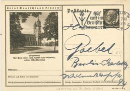 Bild-Ganzsache Hindenburg 6 Pfg - Magdeburg Dom - Hilf Mit Im Deutschen Frauenwerk - Germania