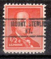 USA Precancel Vorausentwertung Preo, Locals Kentucky, Mount Sterling 734 - Vereinigte Staaten