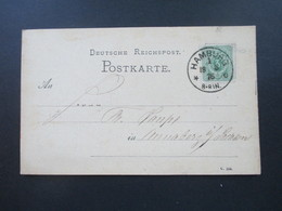 DR 1876 Pfennige Nr. 31 EF Gedruckte Firmenkarte Preis Courant Ludwig Brand Hamburg En Gros Herings Geschäft - Deutschland