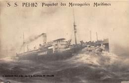 BATEAU- LE PEI-HO- MESSAGERIES MARITIMES - Steamers